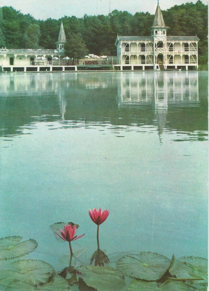 Hévíz - képeslap, gyógyfürdő, 1967. - MKVM, CC BY-NC-ND