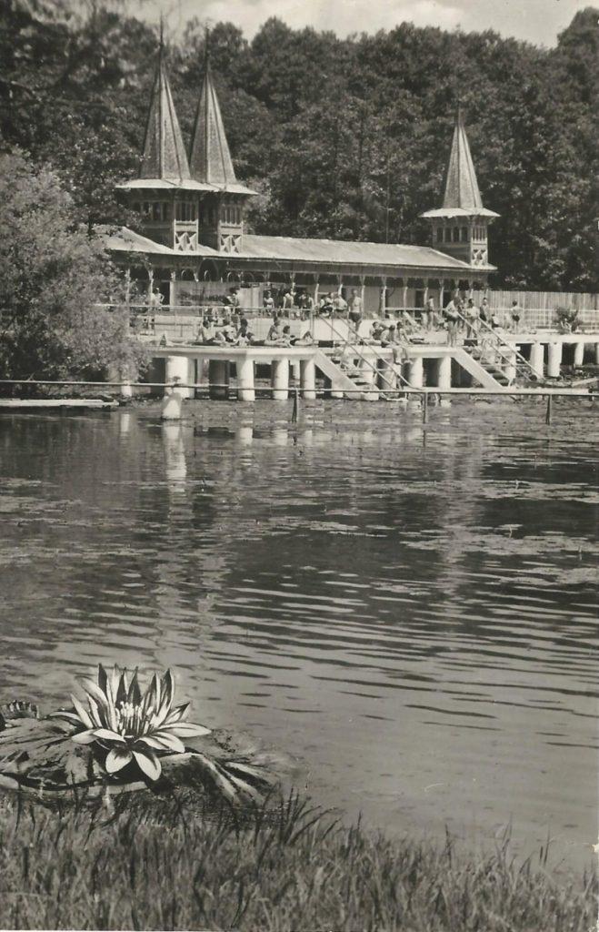 Hévíz - képeslap, gyógyfürdő, 1962. - MKVM, CC BY-NC-ND