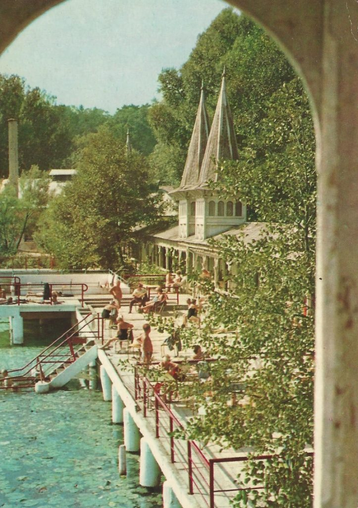 Hévíz - képeslap, gyógyfürdő, 1970. - MKVM, CC BY-NC-ND