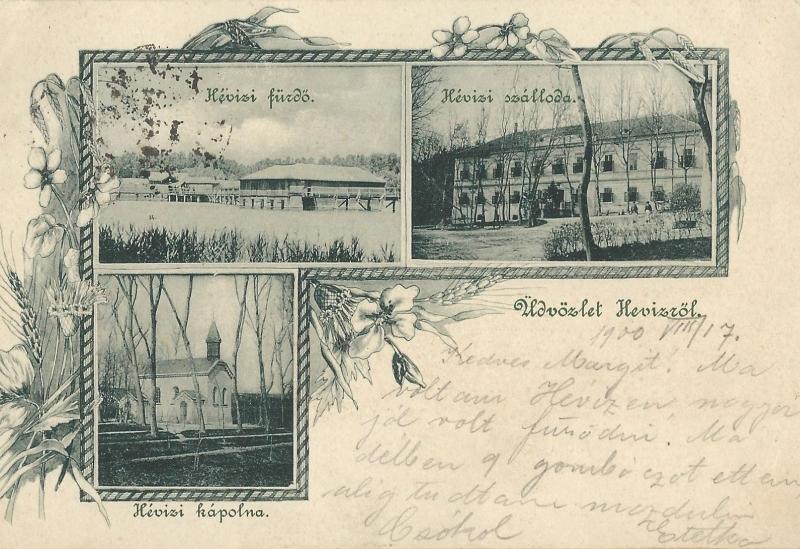 Hetes ház - képeslap, Hévíz, 1900 - MKVM, CC BY-NC-ND