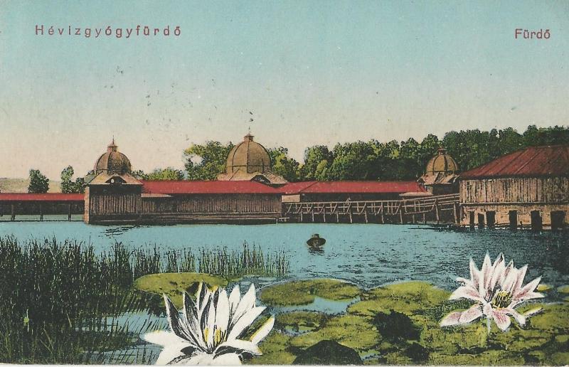 Hévíz - képeslap, gyógyfürdő, 1922 - MKVM, CC BY-NC-ND