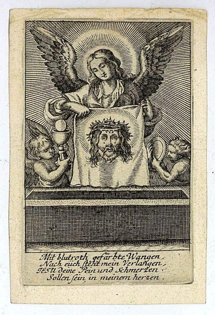 Angyalok Veronika kendőjével és az eucharisztia jelképeivel - Piarista Rend Magyar Tartománya, CC BY-NC-ND