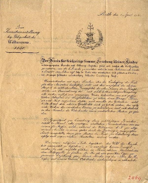 Német nyelvű nyomtatvány Brunswick Teréz aláírásával (1830) - Budapesti Történeti Múzeum, CC BY-NC-ND