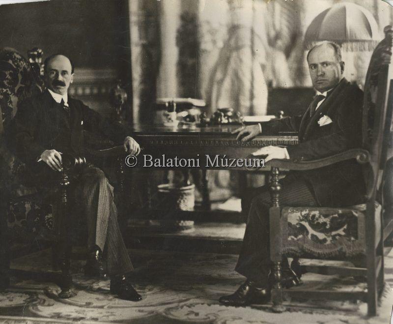 Gróf Bethlen István és Mussolini - Balatoni Múzeum, CC BY-NC-ND