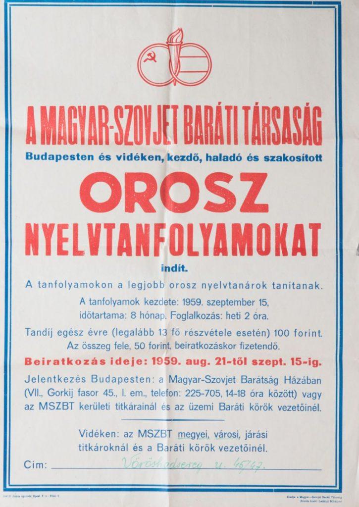 Orosz nyelvtanfolyam - Hajdúsági Múzeum, CC BY-NC-ND